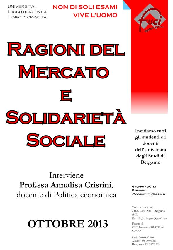Le Ragioni del Mercato e la Solidarietà Sociale