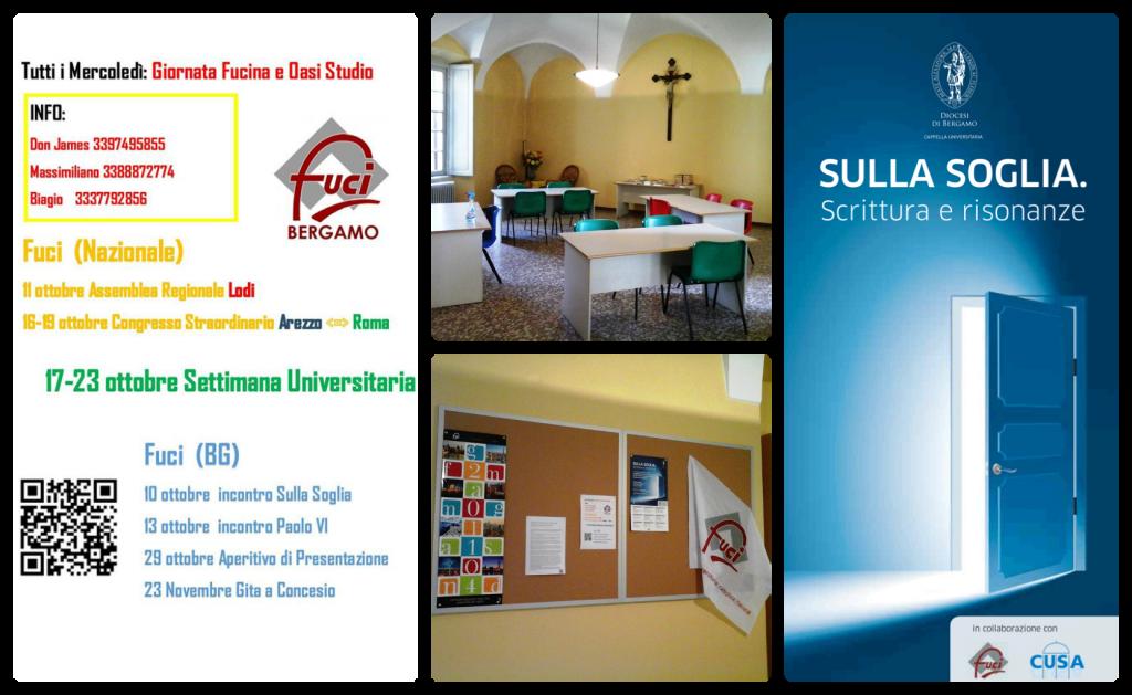 Proposte, luoghi e appuntamenti per il Primo semestre 2014/2015 a Bergamo