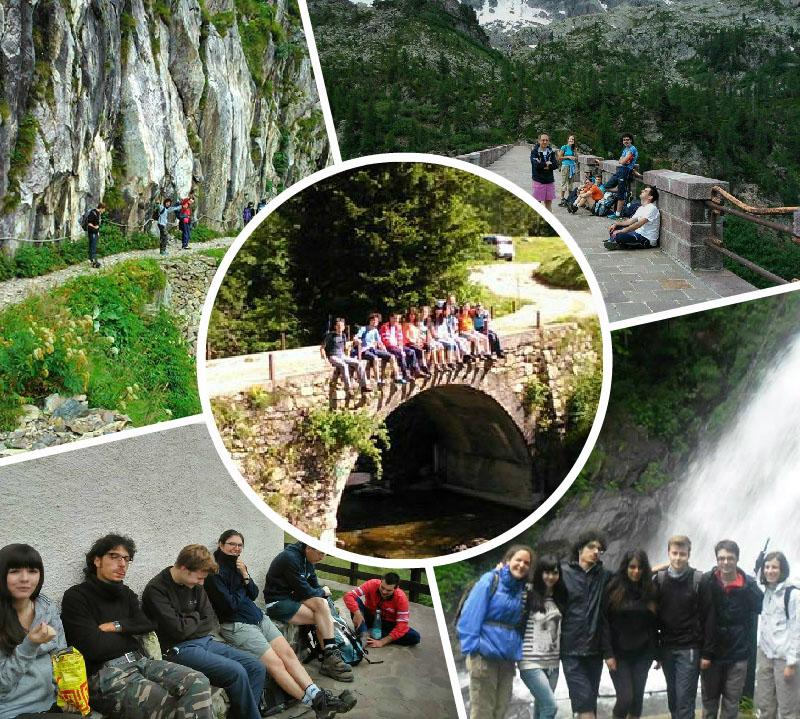 Escursioni al Rifugio Calvi e Curò con gli universitari e i fucini di Bergamo.  Amicizia e progetti per l'anno accademico che inizia.